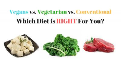 vegan vs. vegetarian vs. conventional diet